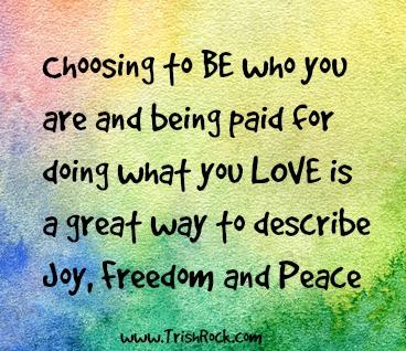 www.trishrock.com peace freedom and joy